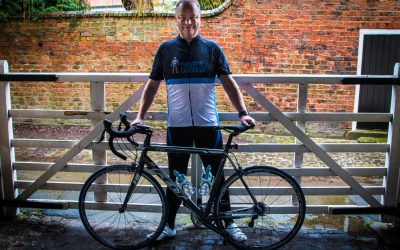 John Corner takes on First Stage of Tour de France  for Prostate Cancer UK