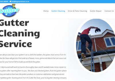 It's Gutter Be Clean Website